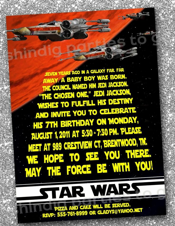 Stars Wars Birthday Invitations Lovely Star Wars Birthday Invitations Templates Free Star Wars Bday Pinterest