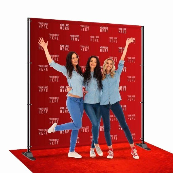 Step and Repeat Mockup Beautiful 8x8 Ft Custom Full Color Fabric Step and Repeat Backdrop