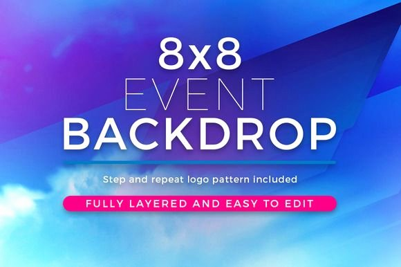Step and Repeat Mockup Best Of Abstract 8x8 event Backdrop Template by Seraphimchris On