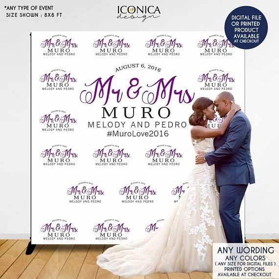 Step and Repeat Mockup Inspirational Wedding Booth Backdrop Custom Step and Repeat Backdrop