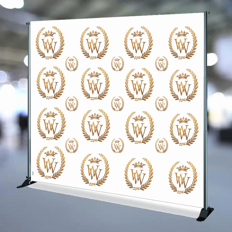Step and Repeat Mockup Lovely Step & Repeat Banner for 55th Birthday Party Signage by