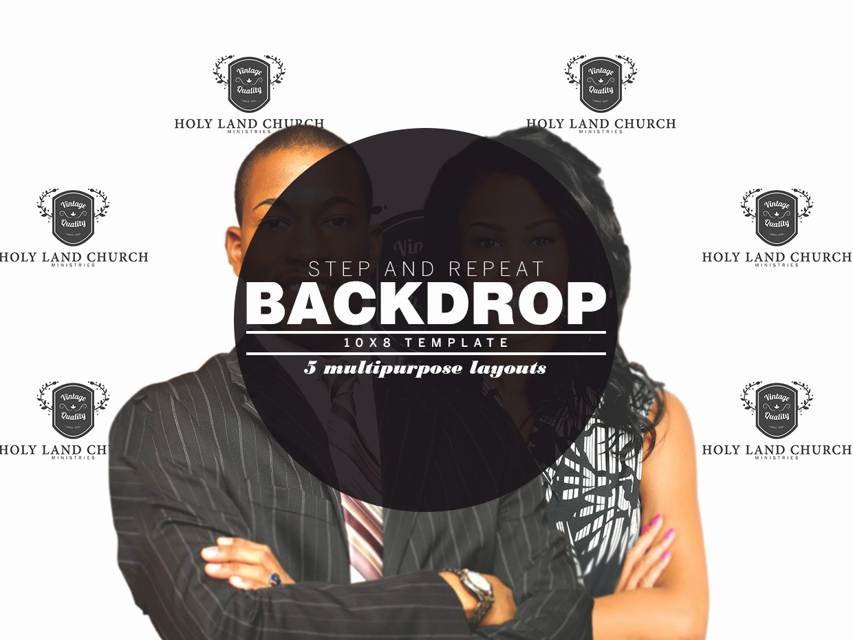 Step and Repeat Template New Step and Repeat Backdrop Template Templates On Creative Market