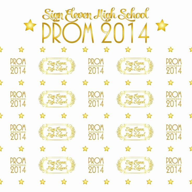 prom step and repeat templates