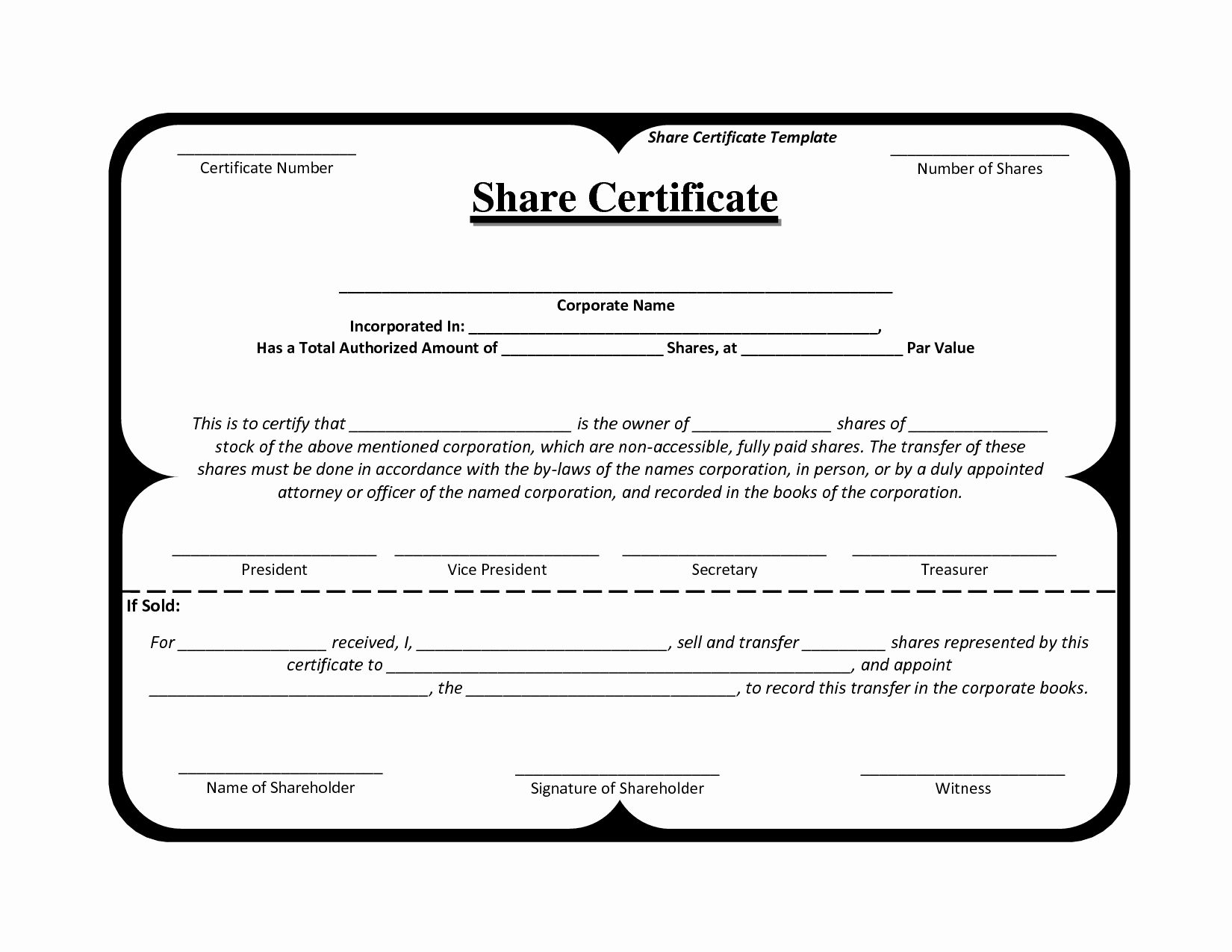 Stock Certificate Template Microsoft Word Fresh Certificate Template south Africa