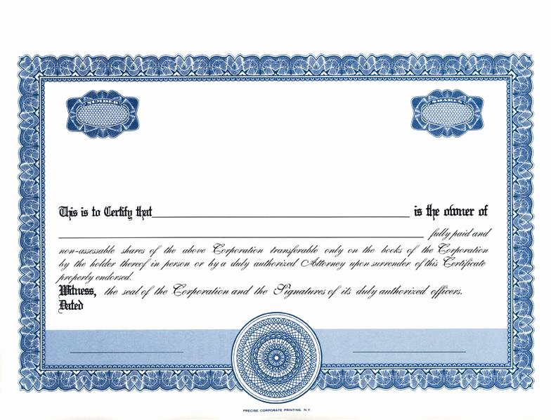 Stock Certificate Template Microsoft Word Inspirational formatted Stock Certificate Templates