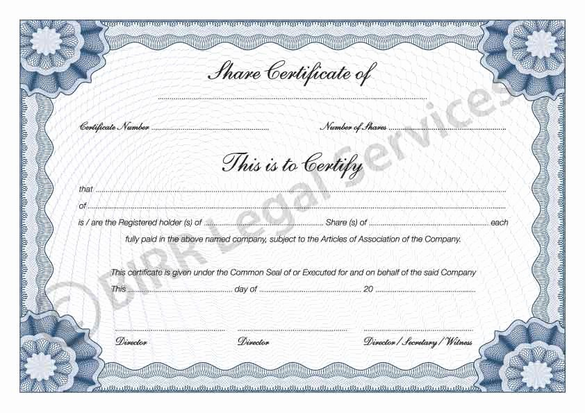 Stock Certificate Template Microsoft Word Lovely 13 Stock Certificate Templates Excel Pdf formats