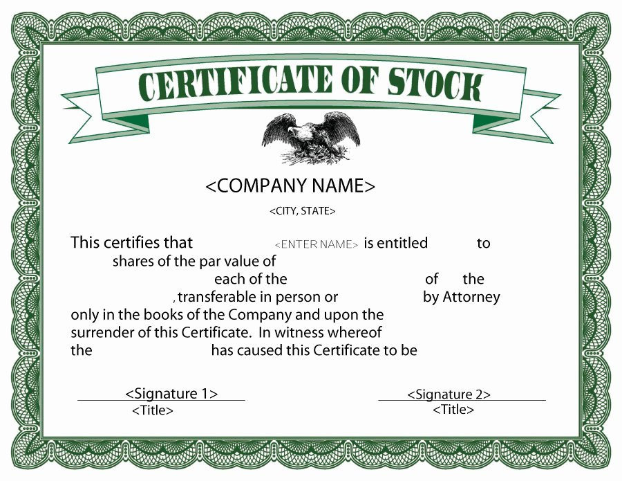 Stock Certificate Template Microsoft Word Lovely Stock Certificate Template Microsoft Word