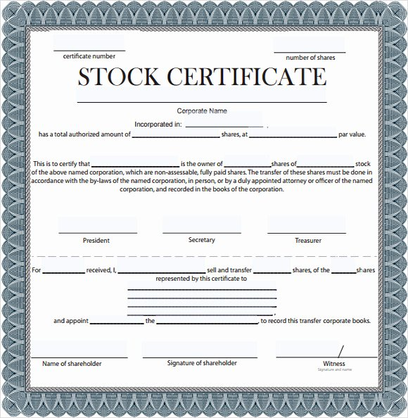 Stock Certificate Template Microsoft Word Luxury Stock Certificate Template 6 Free Download for Pdf Word