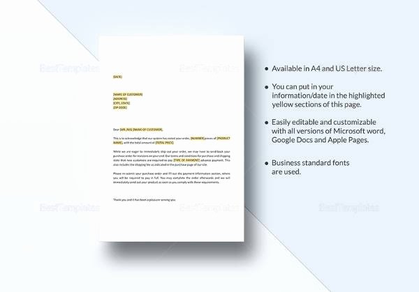 Stop Work order Template Awesome 20 Sample order Letters Pdf Word Pages
