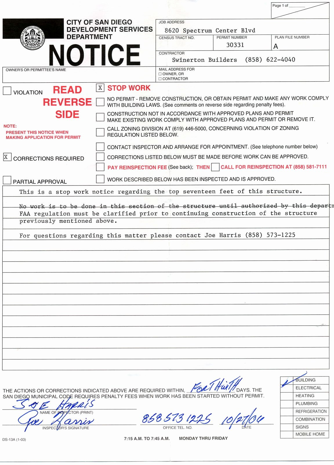 Stop Work order Template Fresh 26 Of Stop Work order Template