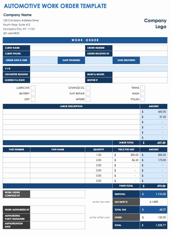 Stop Work order Template Inspirational 15 Free Work order Templates