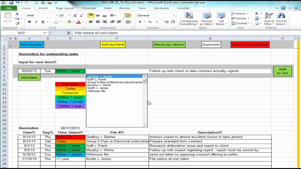 Stop Work order Template Inspirational Excel Spreadsheet Providing List Of Reminders Future Tasks to Do Items Video 1 Of 3