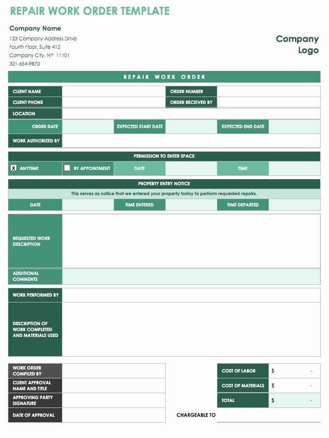 Stop Work order Template New 15 Free Work order Templates
