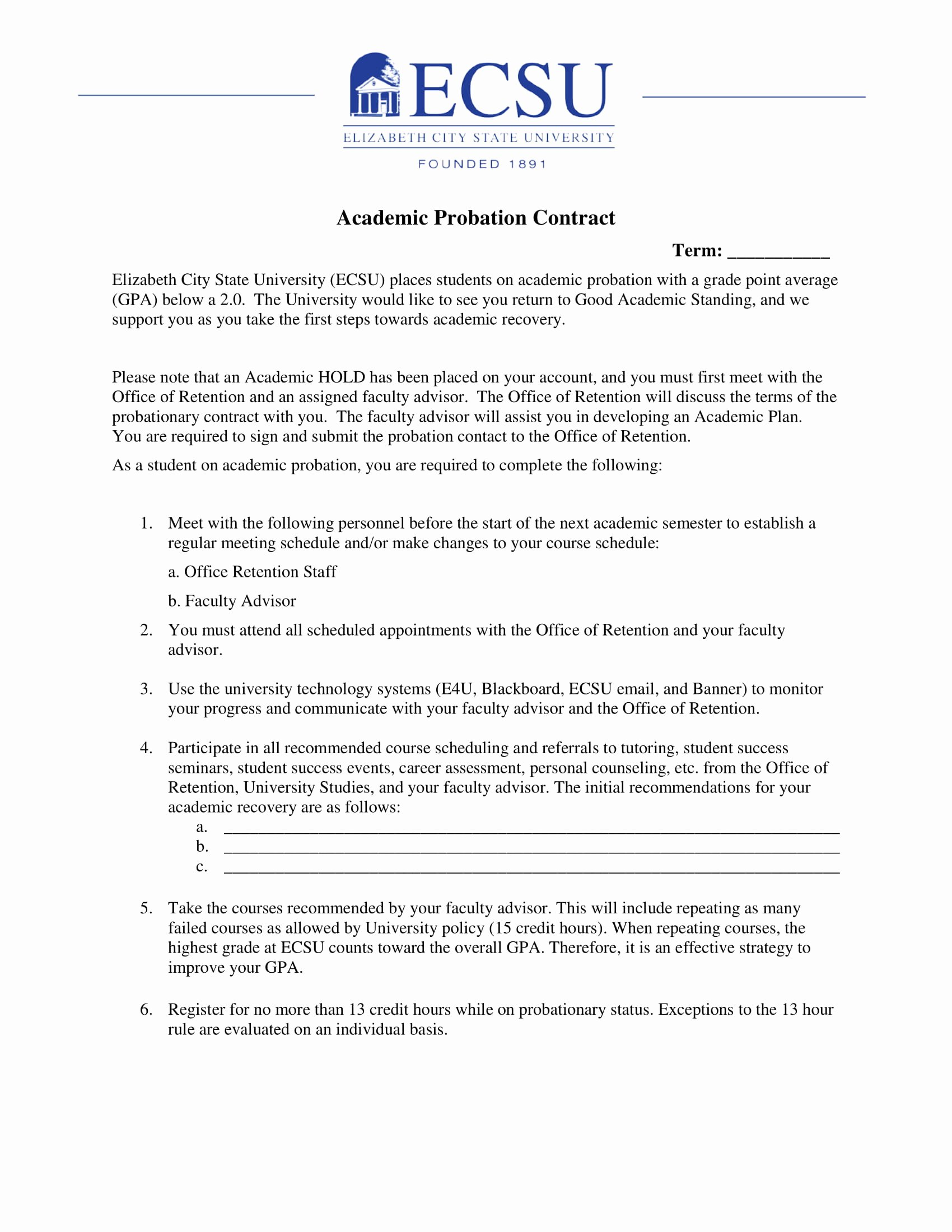Student Academic Contract Template Lovely 11 Student Academic Contract Template Examples Pdf Word Google Docs Apple Pages