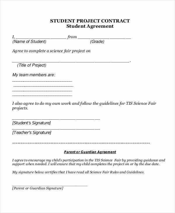 Student Academic Contract Template New 5 Project Contract Samples & Templates Pdf Doc