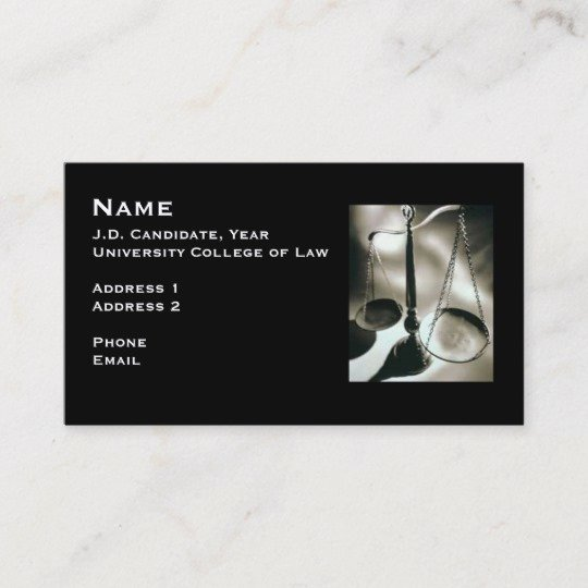 Student Business Card Examples Fresh Law Student Business Card Sample