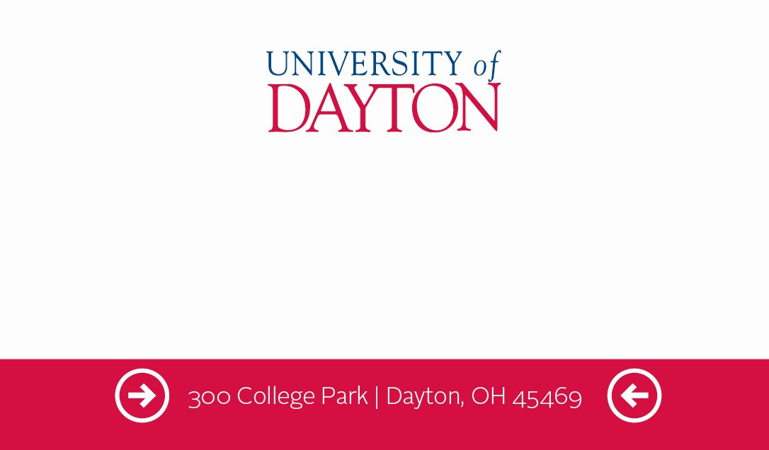 Student Business Card Examples New Business Cards University Of Dayton Ohio