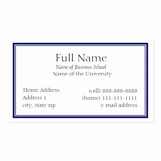 Student Business Cards Template Best Of Student Business Card Template Business Card