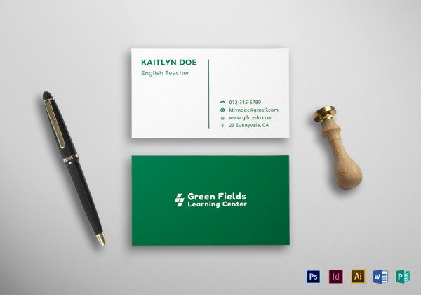 Student Business Cards Template Unique 21 Student Business Card Templates Psd Word Pages