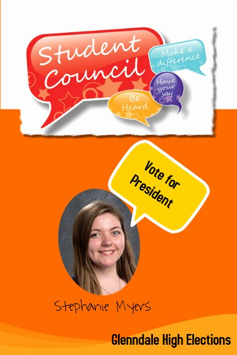 Student Council Poster Template Awesome Campaign School Poster Template