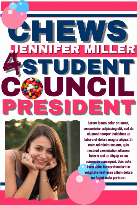 Student Council Poster Template Fresh Student Council Template