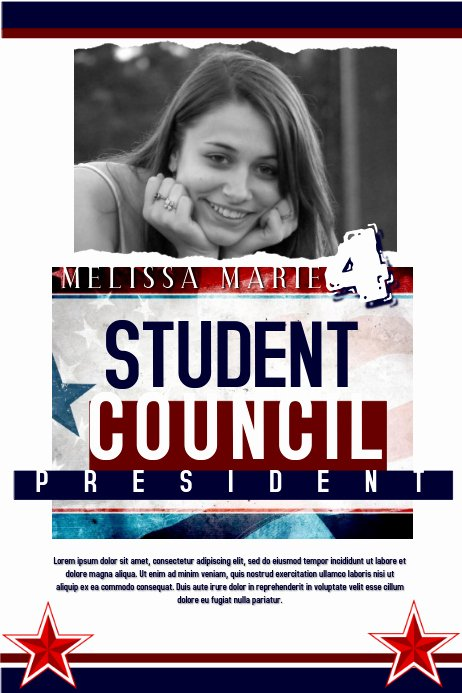 Student Council Poster Template Inspirational Student Council Template