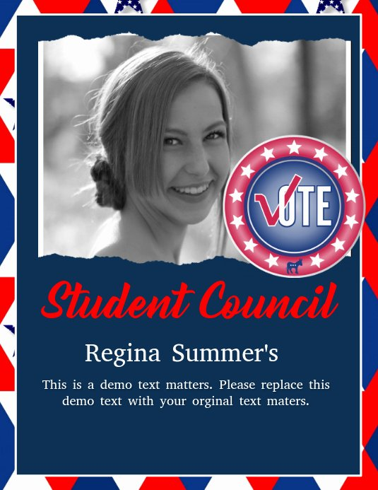 Student Council Poster Template New Student Council Template