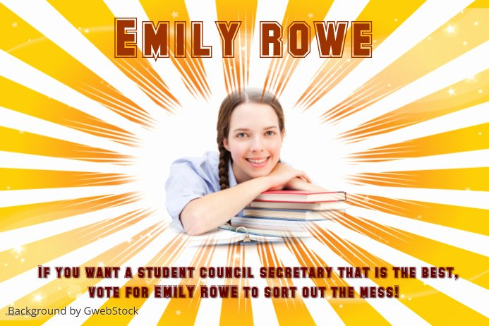 Student Council Poster Templates Awesome Student Election Poster Template
