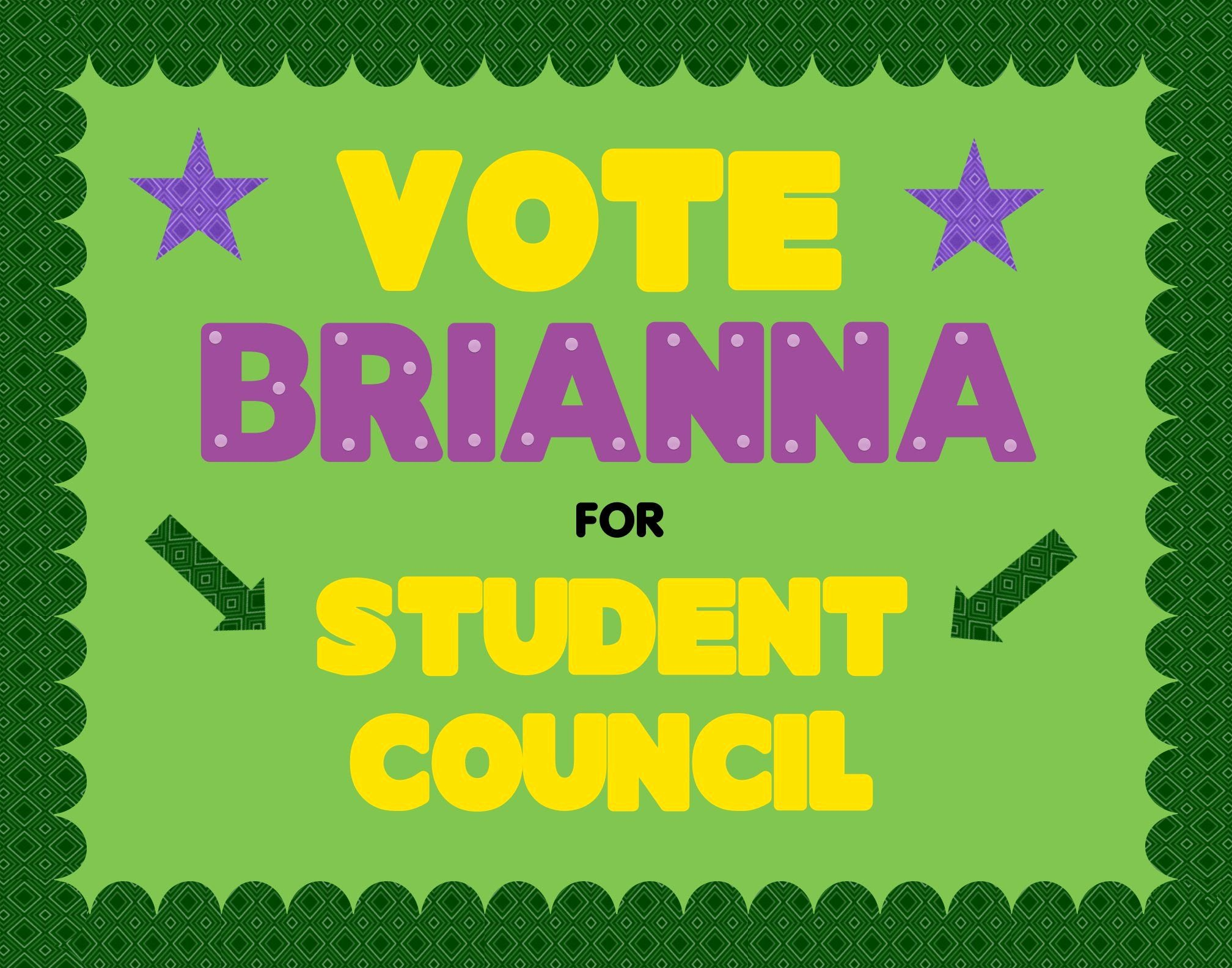 Student Council Poster Templates Beautiful Make A School Election Poster Vote for Student Council Poster Ideas
