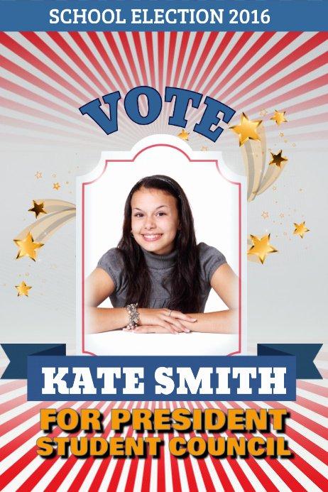 Student Council Poster Templates Unique Election Campaign Poster Template