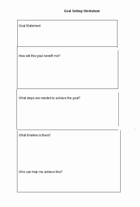 Student Goal Setting Worksheet Pdf Awesome Goal Setting Template Missionconvergence
