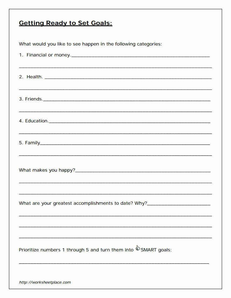 Student Goal Setting Worksheet Pdf Awesome Smart Goals Worksheet