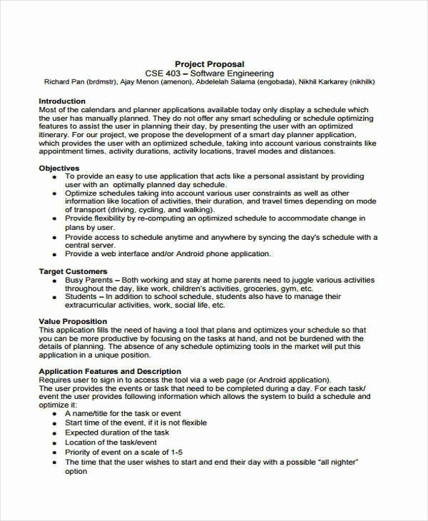 Student Project Proposal Example New 30 Project Proposal Examples Word Pdf