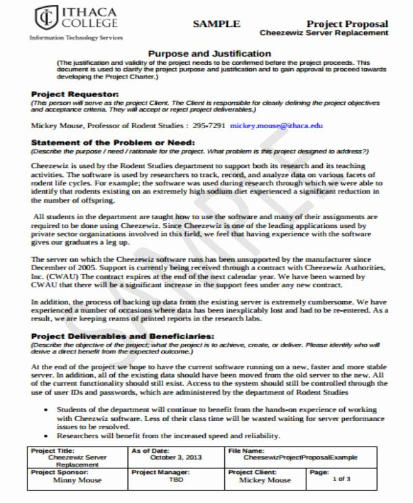 Student Project Proposal Example Unique 14 Student Project Proposal Templates Pdf Doc