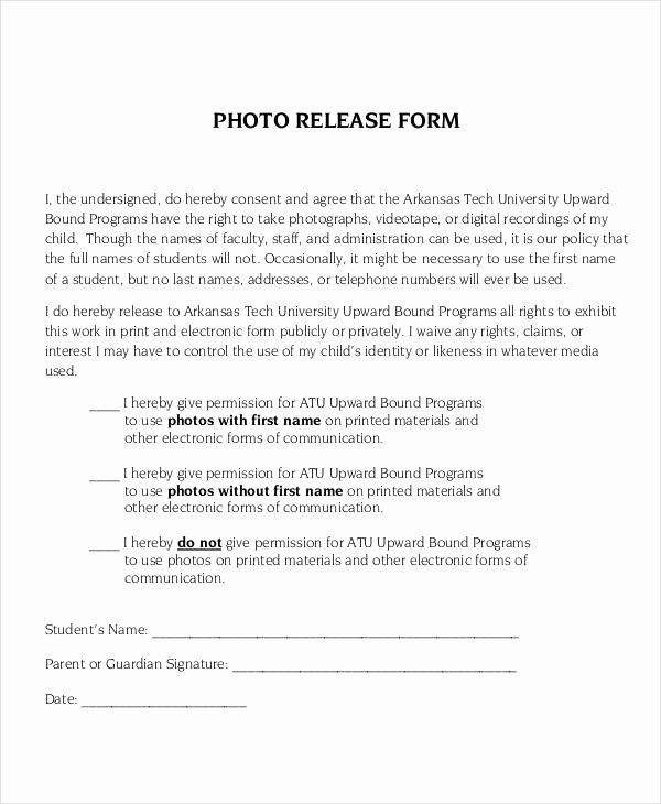 Student Release form Template Best Of Release form Template 9 Free Pdf Documents Download