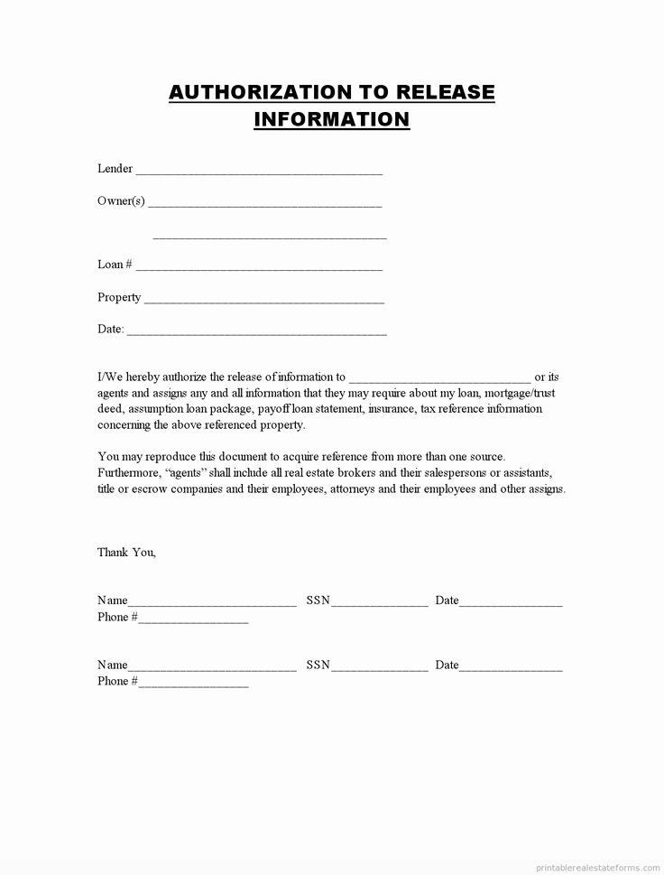 Student Release form Template Lovely Printable Authorization to Release Information Template 2015 Sample forms 2015 In 2019
