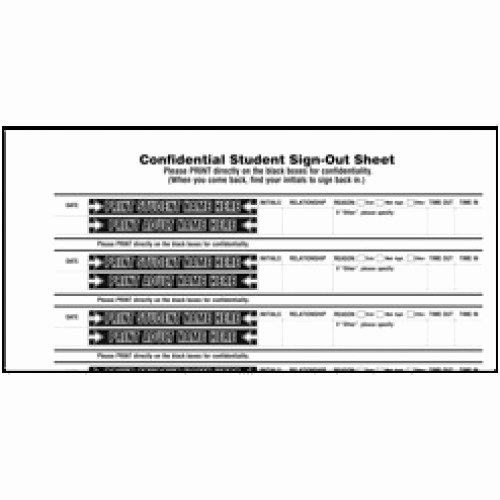 Student Sign Out Sheet Beautiful 110 Sk Stock Confidential Student Sign Out Book Confidential Student Sign Out Books