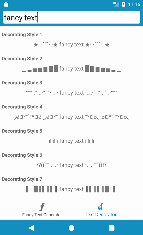 Stylish Fonts for android New Cool Fancy Text Generator Stylish Text Fonts android Apps On Google Play