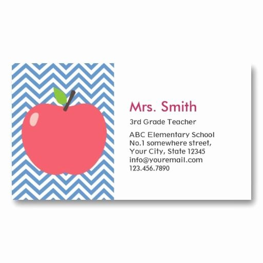 Substitute Teacher Buisness Cards Lovely Substitute Teacher Business Card Template