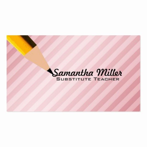 Substitute Teacher Business Card Examples Awesome Substitute Teacher Business Cards