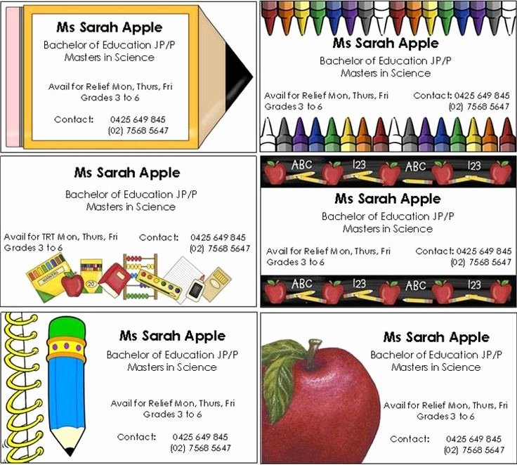 Substitute Teacher Business Card Examples Unique Substitute Teacher Quotes Quotesgram