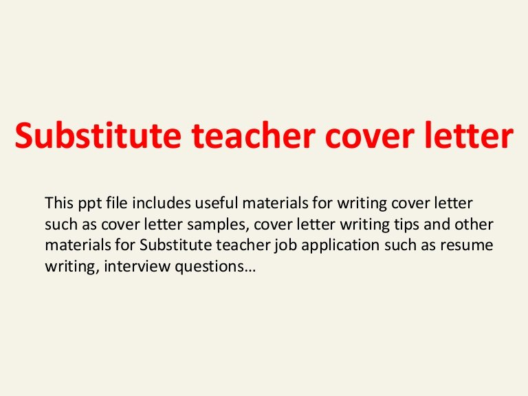Substitute Teacher Cover Letter Examples Beautiful Substitute Teacher Cover Letter