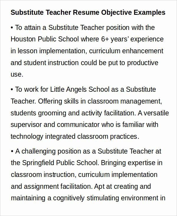 Substitute Teacher Resume Sample Luxury Teacher Resume Sample 32 Free Word Pdf Documents Download