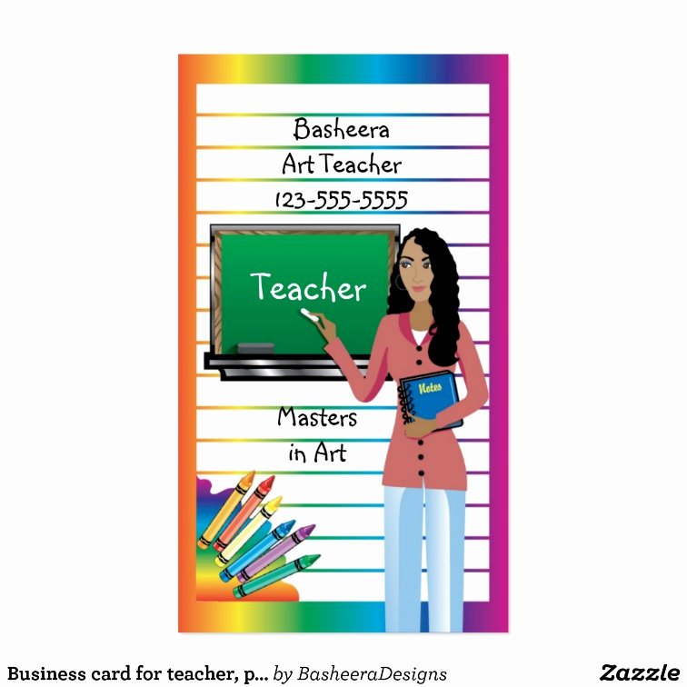 Substitute Teachers Business Cards Awesome Business Card for Teacher Professor or Substitute