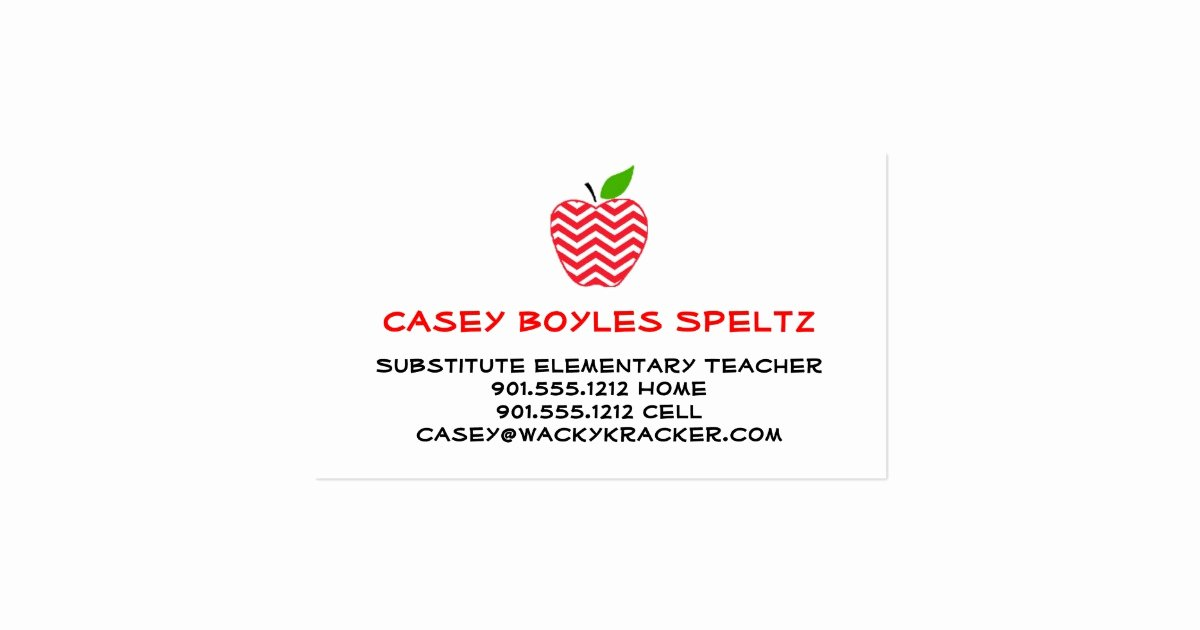 Substitute Teachers Business Cards Awesome Substitute Teacher Business Cards