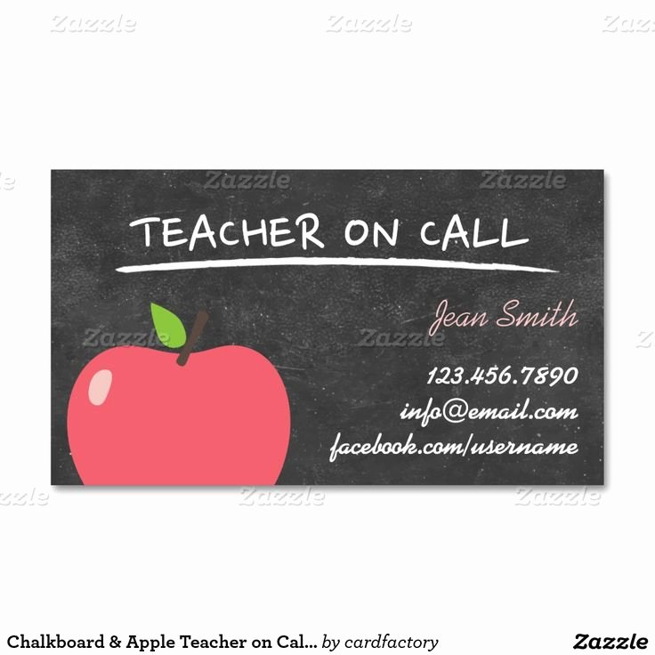 Substitute Teachers Business Cards Fresh 25 Best Ideas About Teacher Business Cards On Pinterest