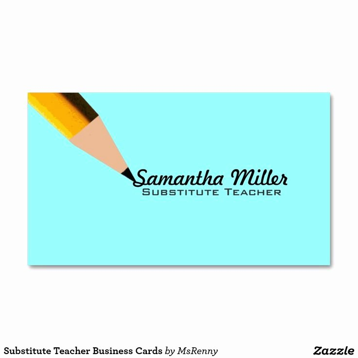 Substitute Teachers Business Cards Inspirational Substitute Teacher Business Cards Zazzle