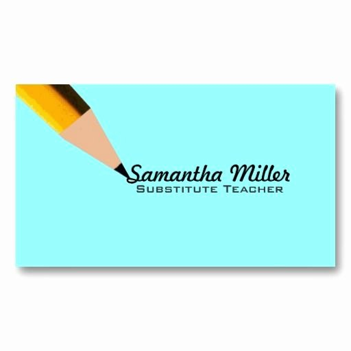 Substitute Teachers Business Cards Lovely Substitute Teacher Business Cards Business Cards Pinterest