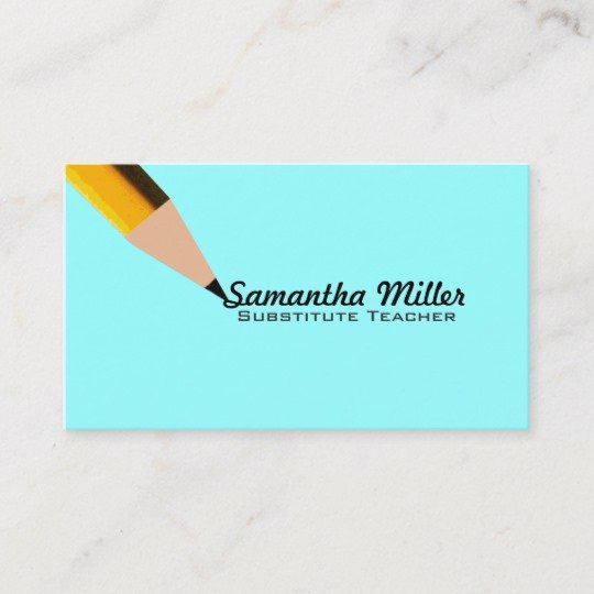 Substitute Teachers Business Cards Lovely Substitute Teacher Business Cards