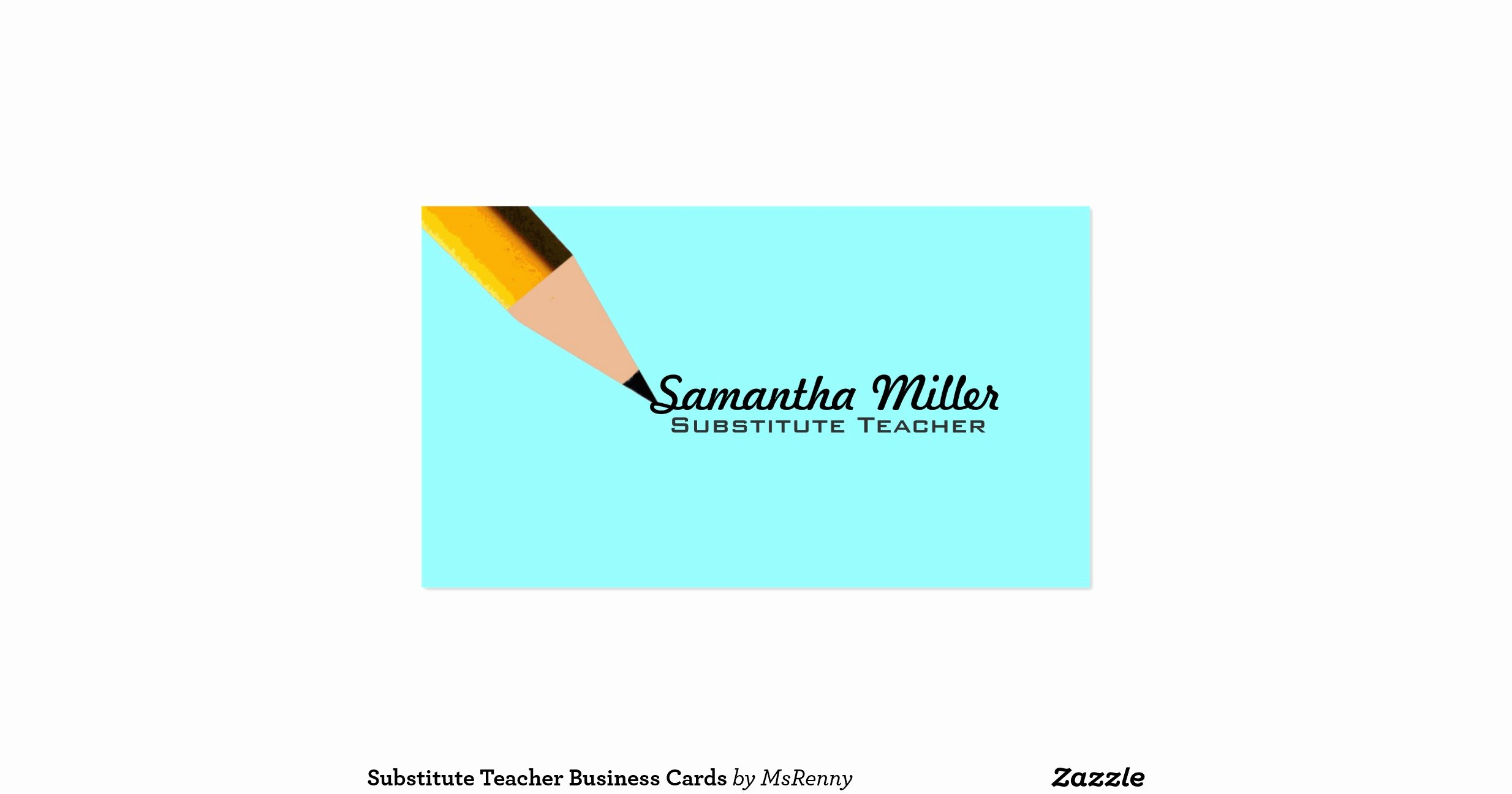 Substitute Teachers Business Cards Lovely Substitute Teacher Business Cards Rc6d Eaa4481a86d885ac2f2e4a79 I579t 8byvr 1200 View